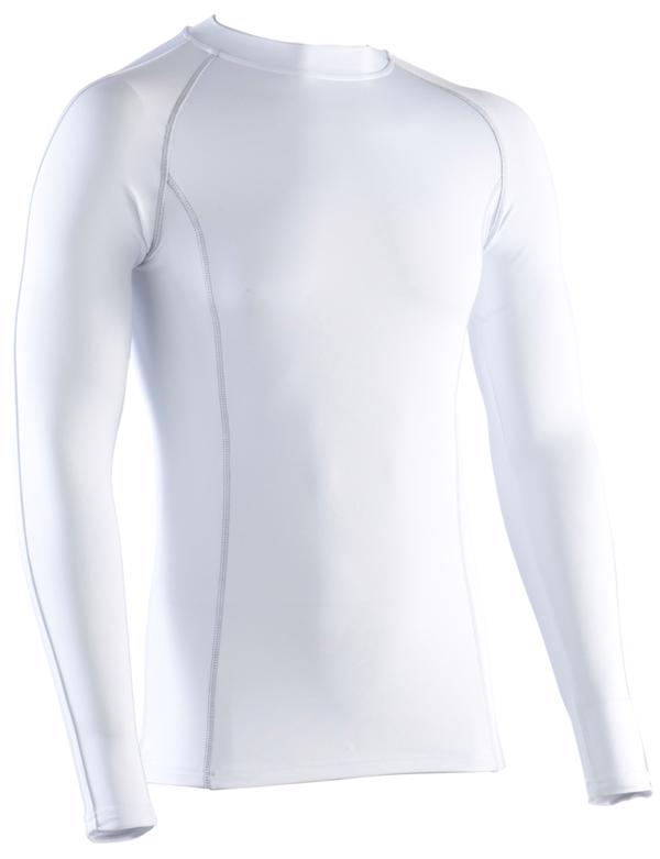 Morrant Performance Base Layer Long Sleeve JUNIOR, WHITE