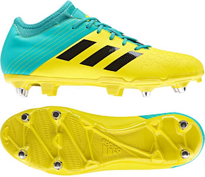 adidas Malice Elite SG Rugby Boots YELLOW/AQUA