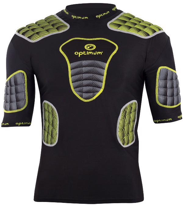 Optimum Atomik Rugby Protection YELLOW/GREY