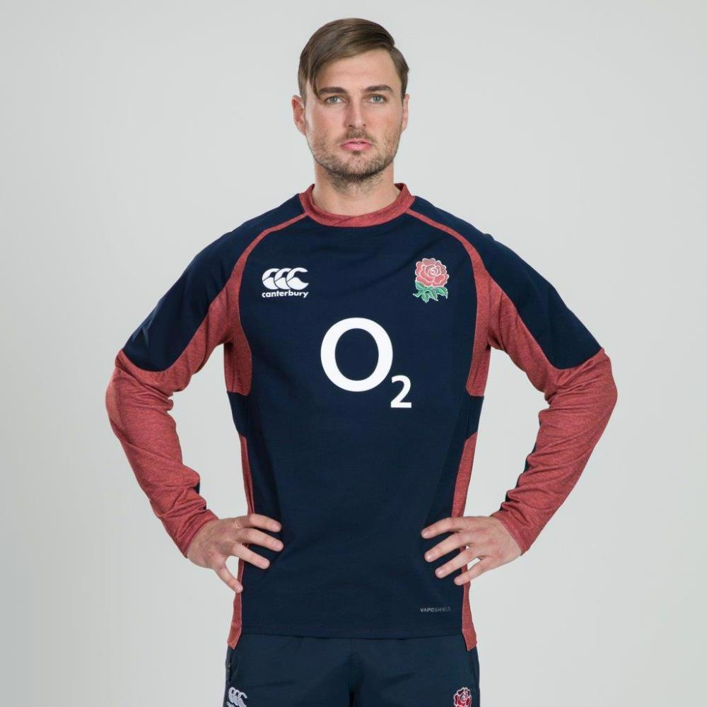 New Navy Ireland Canterbury Rugby Men/'s Vaposhield Tech Drill Top