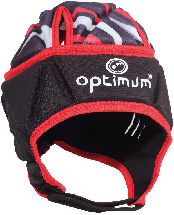 Optimum Razor Rugby Headguard JUNIOR BLACK/RED