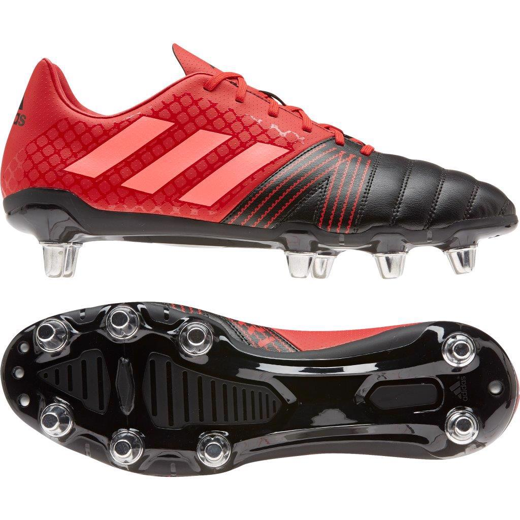 adidas Kakari SG Rugby Boots BLACK/SCARLET