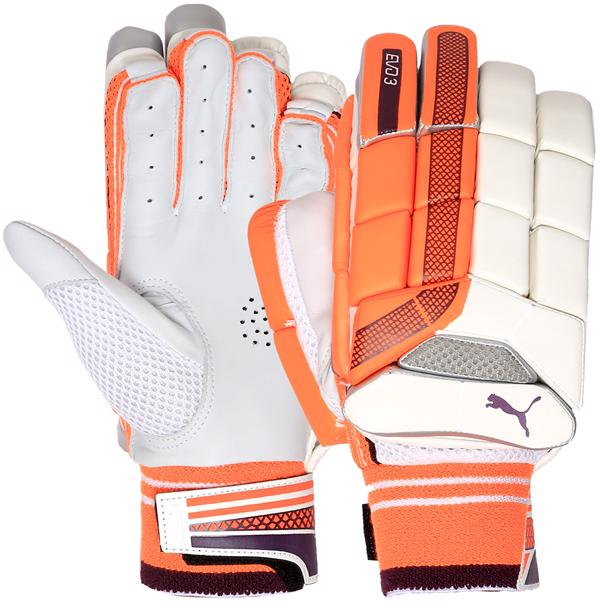 Puma EVO 3 ORANGE Batting Gloves JUNIOR
