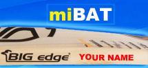 miBAT Cricket Bat Personalisation