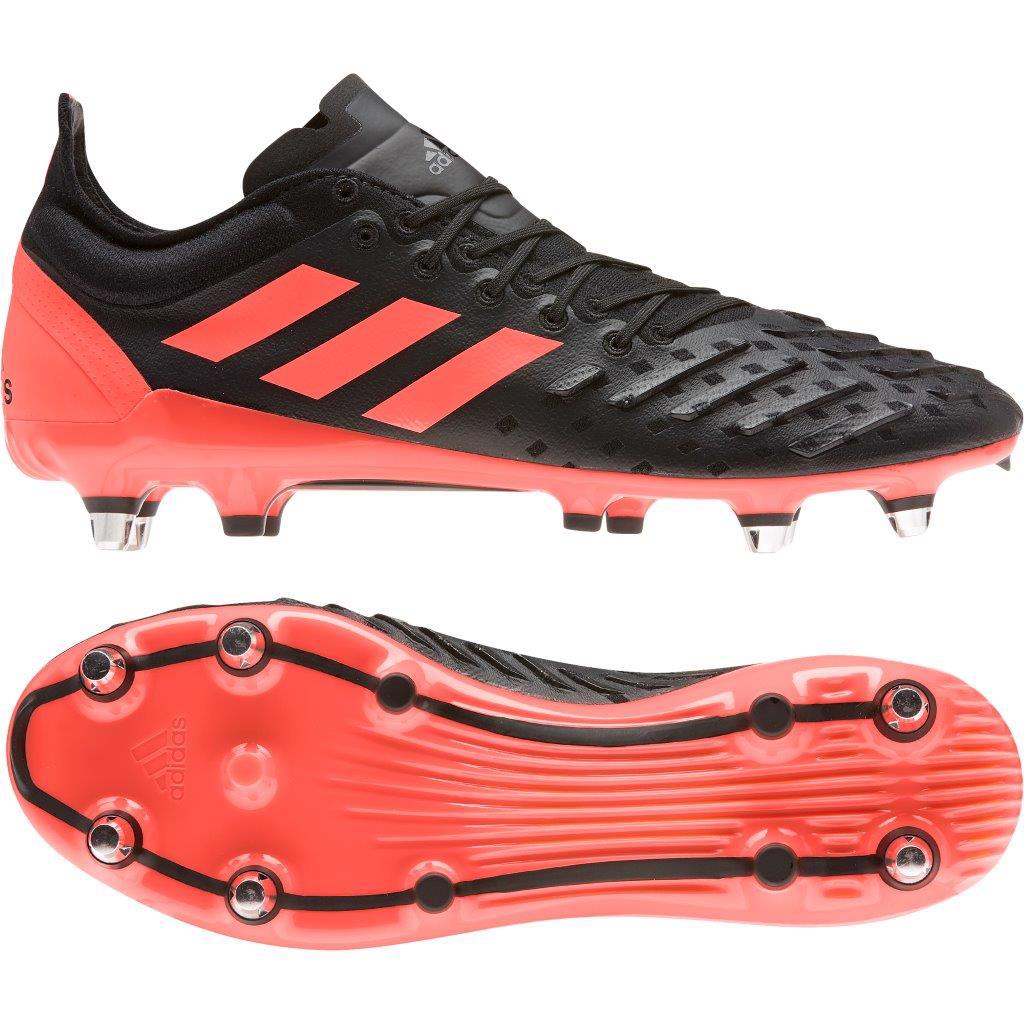 adidas PREDATOR XP Rugby Boots BLACK/CORAL