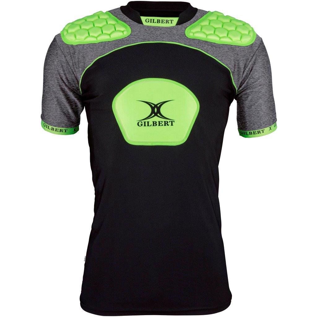 Gilbert Atomic V3 Rugby Body Armour BLACK/VOLT, JUNIOR