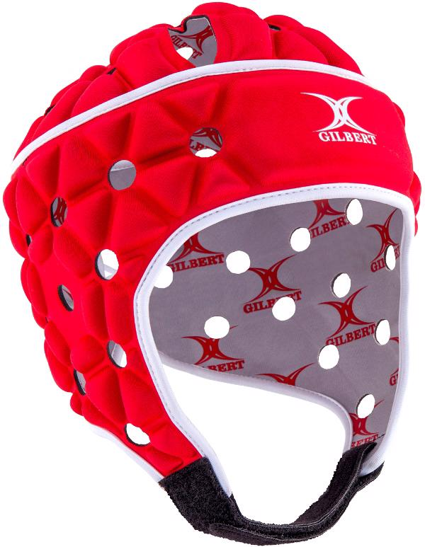 Gilbert Air Rugby Headguard RED, JUNIOR