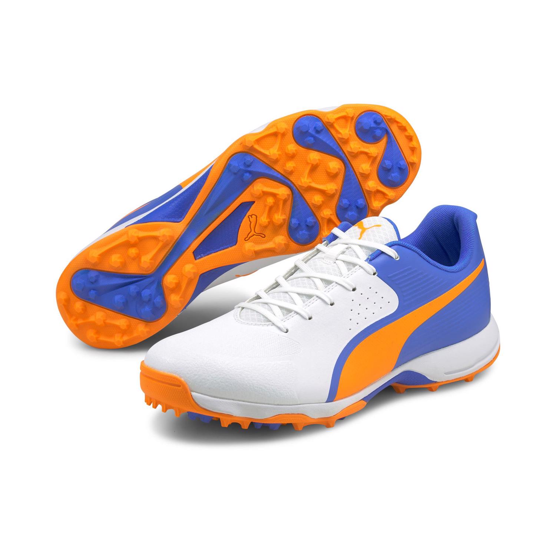 Puma 19 FH Rubber Cricket Shoes BLUE/ORANGE