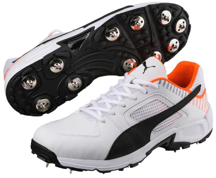 Puma Team Full Spike Cricket Shoe WHITE/ORANGE