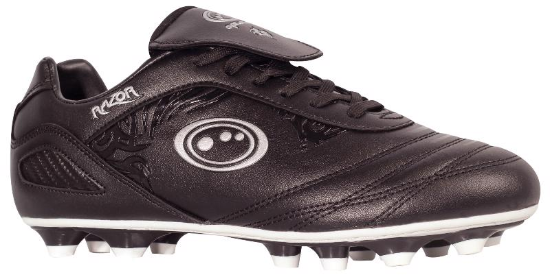 Optimum Razor Laced Moulded Rugby Boots JUNIOR BLACK/SILVER