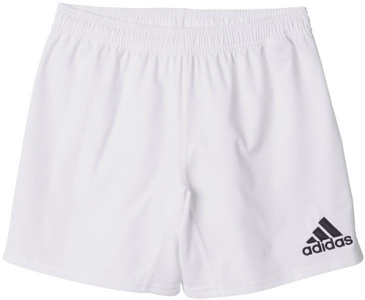 adidas 3 Stripe Rugby Shorts WHITE
