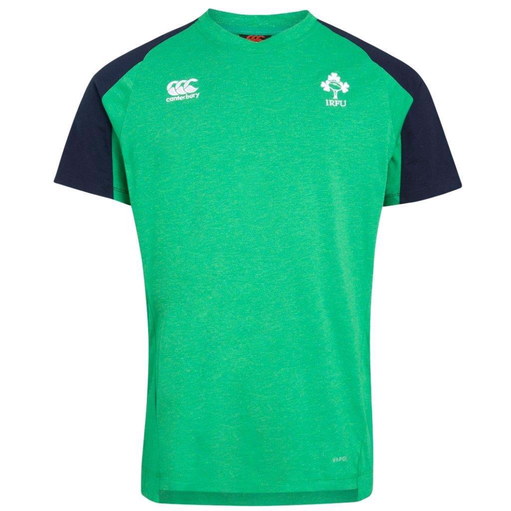 Canterbury Ireland Rugby Vapodri Cotton Training Tee GREEN