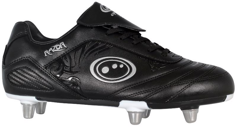 Optimum Razor Rugby Boots JUNIOR BLACK/SILVER