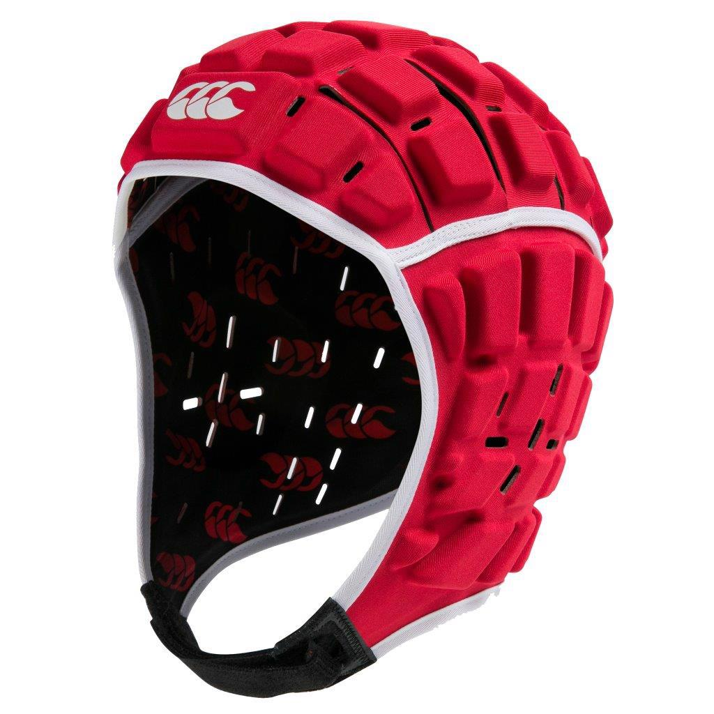 Canterbury Reinforcer Rugby Headguard TRUE RED
