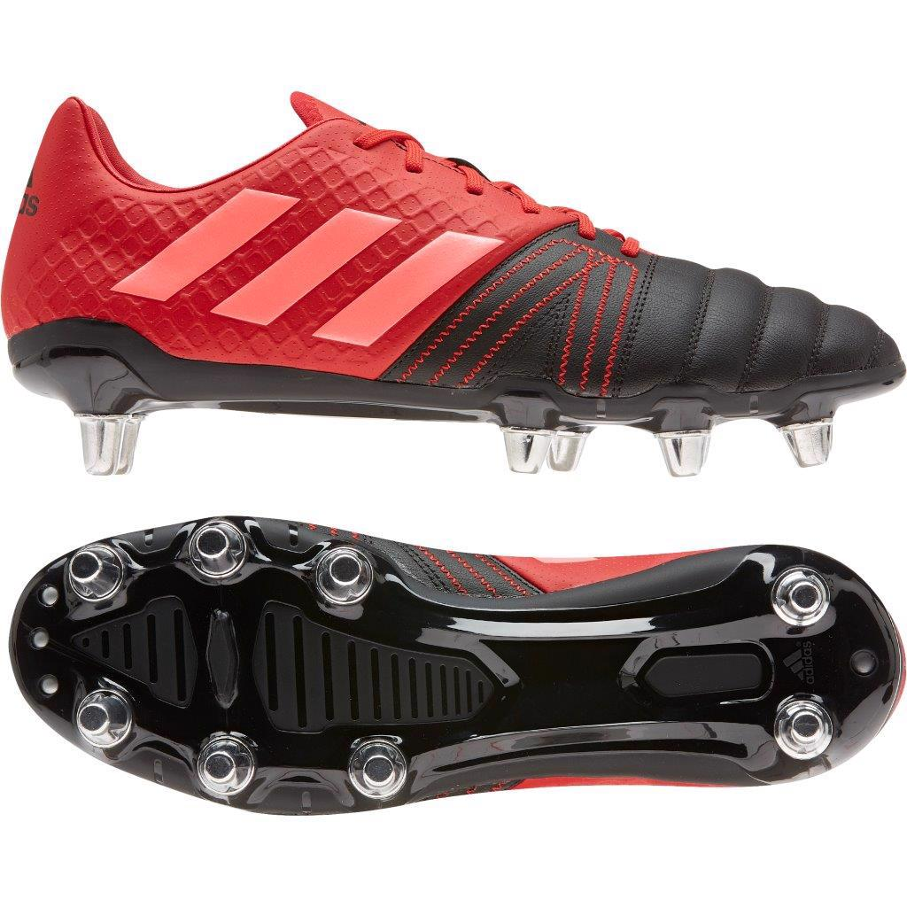 Adidas Kakari Elite Sg Rugby Boots Black Scarlet Rugby Boots