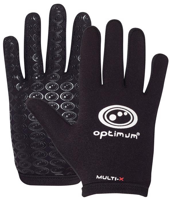 Optimum Multi-X Rugby Gloves BLACK