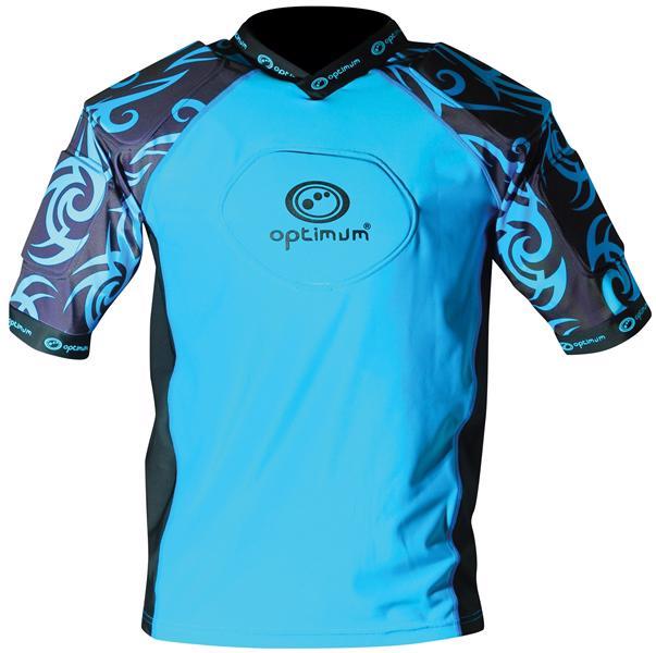 Optimum Razor Rugby Body Armour JUNIOR CYAN/BLACK