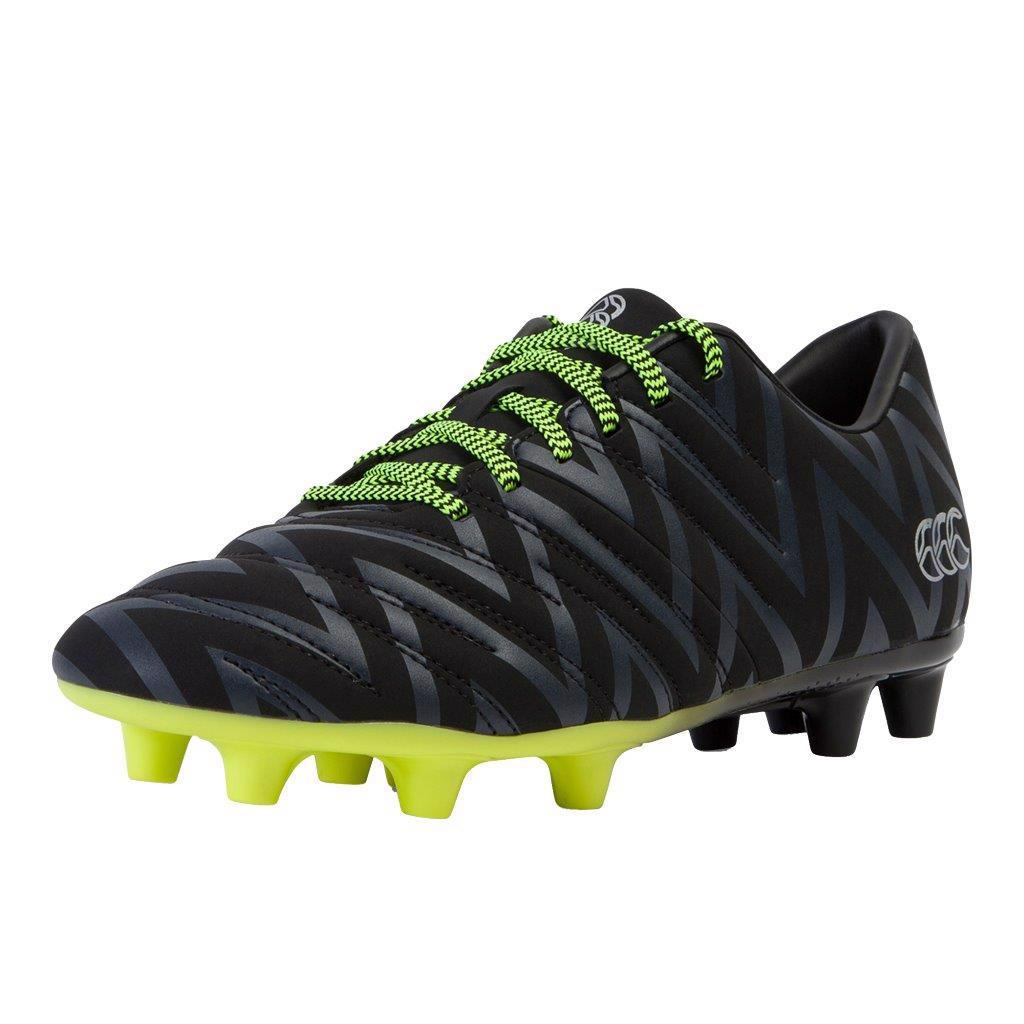Canterbury Phoenix 2.0 FG Rugby Boots BLACK/SULPHUR