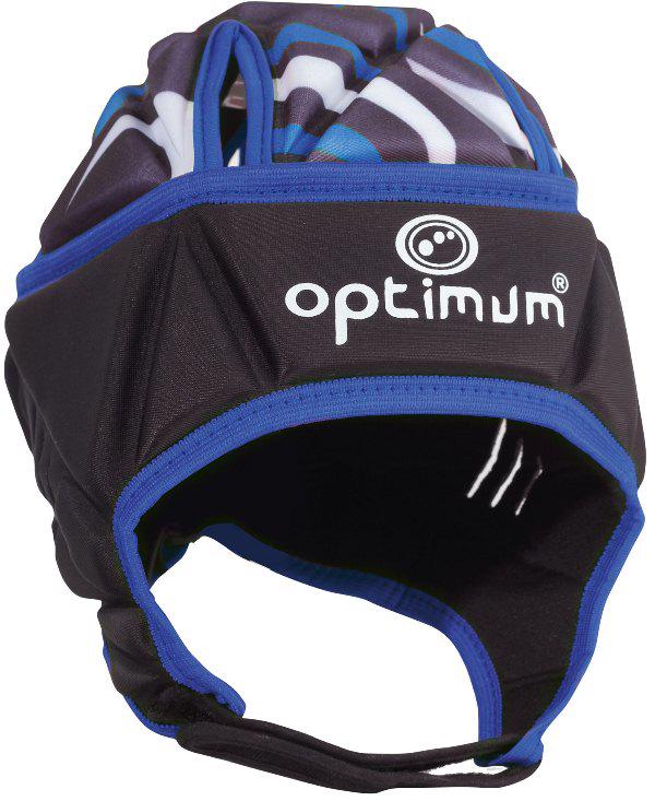 Optimum Razor Rugby Headguard JUNIOR BLACK/BLUE