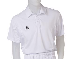 Adidas 3 Stripe Short Sleeve White Cri