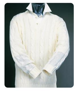 Long Sleeve Plain Cricket Sweater