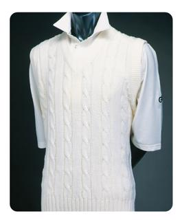 Sleeveless Plain Cricket Sweater