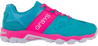 Grays Trackion Hockey Shoes AQUA, JUNI