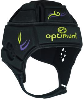 Optimum Tribal Rugby Headguard BLACK/GREEN