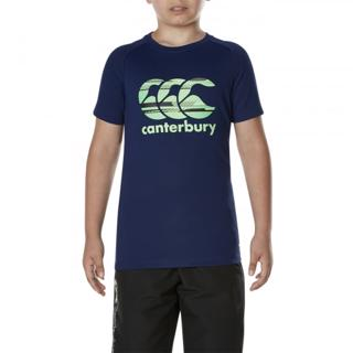 Canterbury Vapodri Poly Logo Tee BLUEPRI