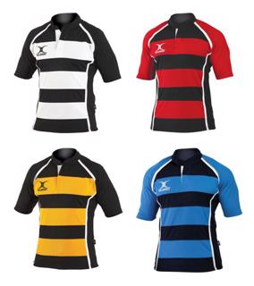 Gilbert Xact Hooped Rugby Shirt JUNIOR