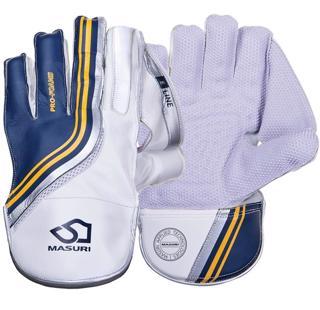 Masuri E Line WK Gloves WHITE, STAND