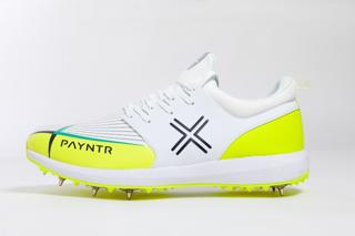 Payntr X-MK2 Spike Cricket Shoes WHITE/Y