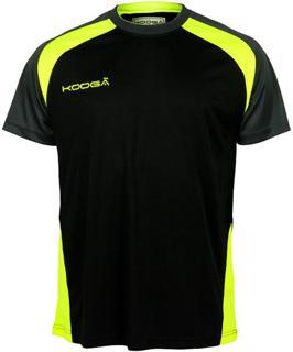 Kooga Poly Panel T-Shirt BLACK/VOLT