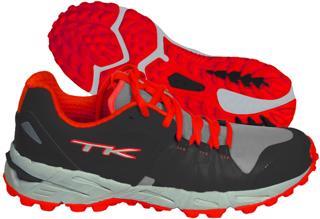 TK T1 Hockey Shoes, BLACK/RED