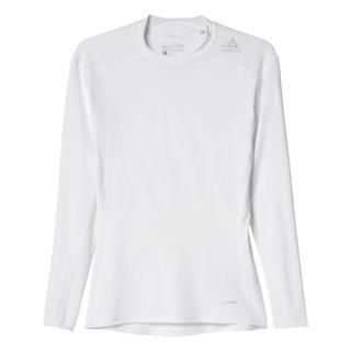 adidas TechFit BASE Long Sleeve, WHITE