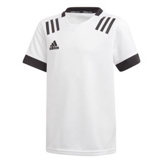 adidas 3 Stripe Rugby Jersey WHITE/BLACK