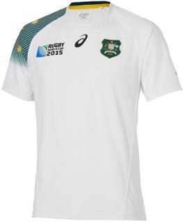 Asics RWC2015 Wallabies Away Rugby Shirt
