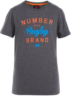 Canterbury Number One T-Shirt CHARCOAL J