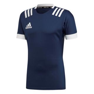adidas 3 Stripe Fitted Rugby Jersey NA