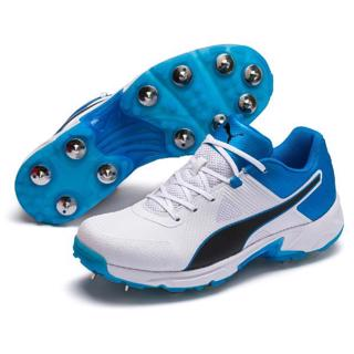 Puma 19.1 Cricket Spike Shoe WHITE/AZURE