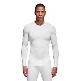 adidas Alphaskin Tech LS Tee White