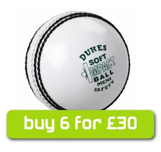 Dukes WHITE Soft Impact Safety Cricket%2