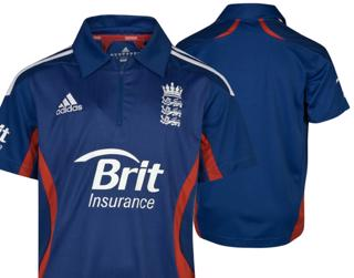 adidas 2012 England ODI Cricket Shirt
