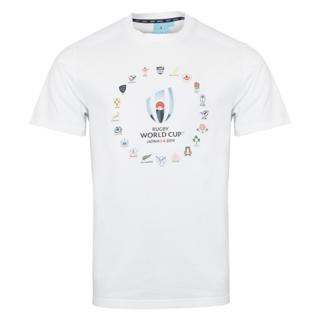RWC 2019 20 Nations Logo Tee WHITE