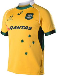 Asics Wallabies Home Replica Rugby Jerse