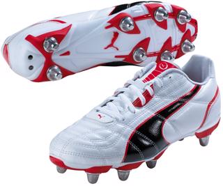 Puma Universal H8 Rugby Boots WHITE/RED
