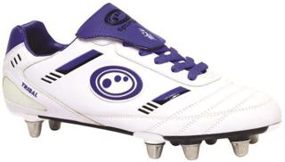 Optimum Tribal Rugby Boot WHITE JUNIOR