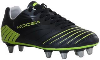 Kooga Advantage Rugby Boots BLACK/LIME