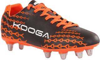 Kooga Control Rugby Boots BLACK/ORANGE