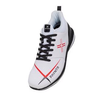 Payntr V Spike Cricket Shoes WHITE/BLACK